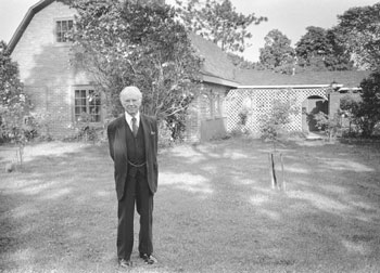 Russell Kirk outside his Library