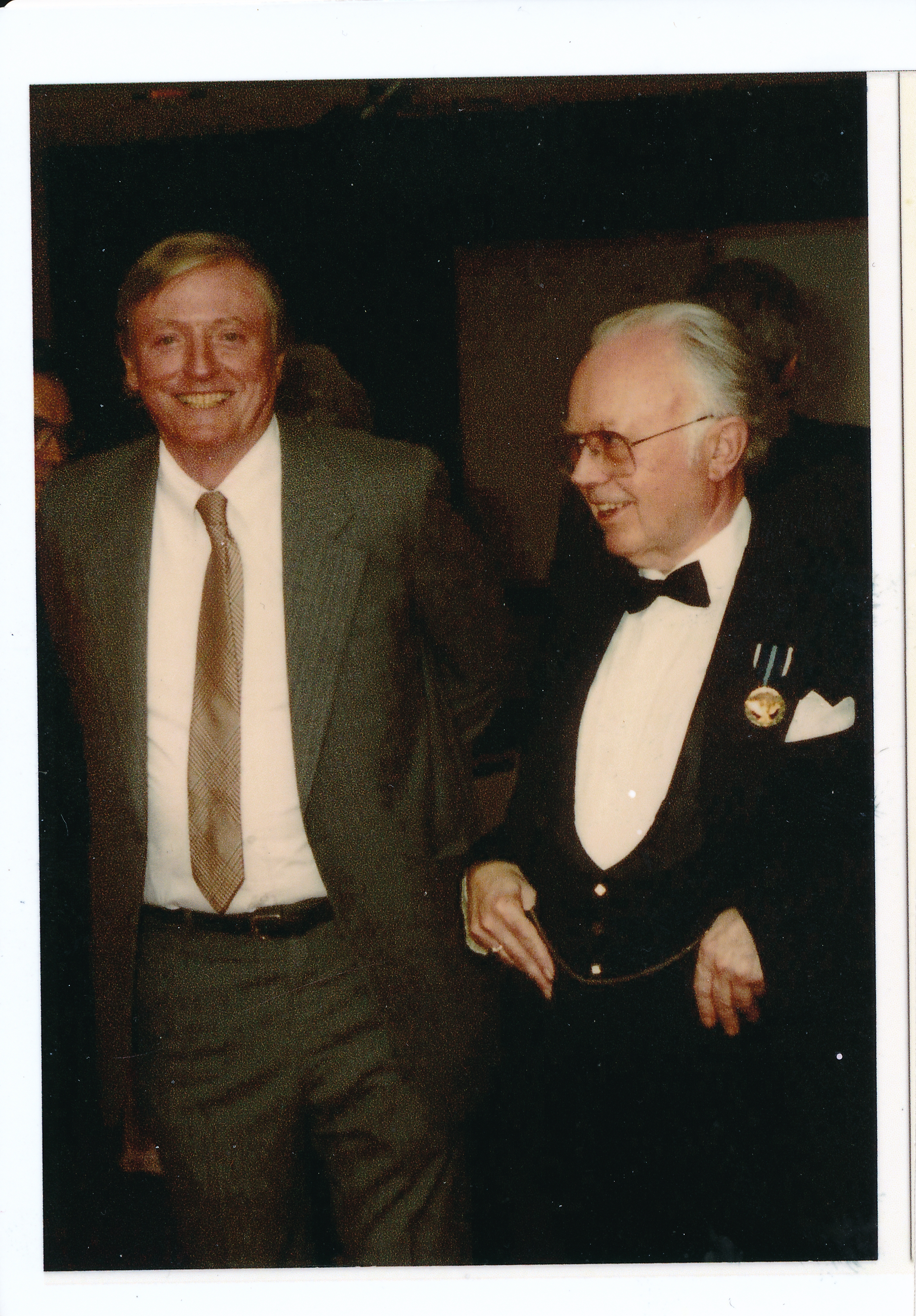 Longtime friends and collaborators, William F. Buckley, Jr., and Kirk.