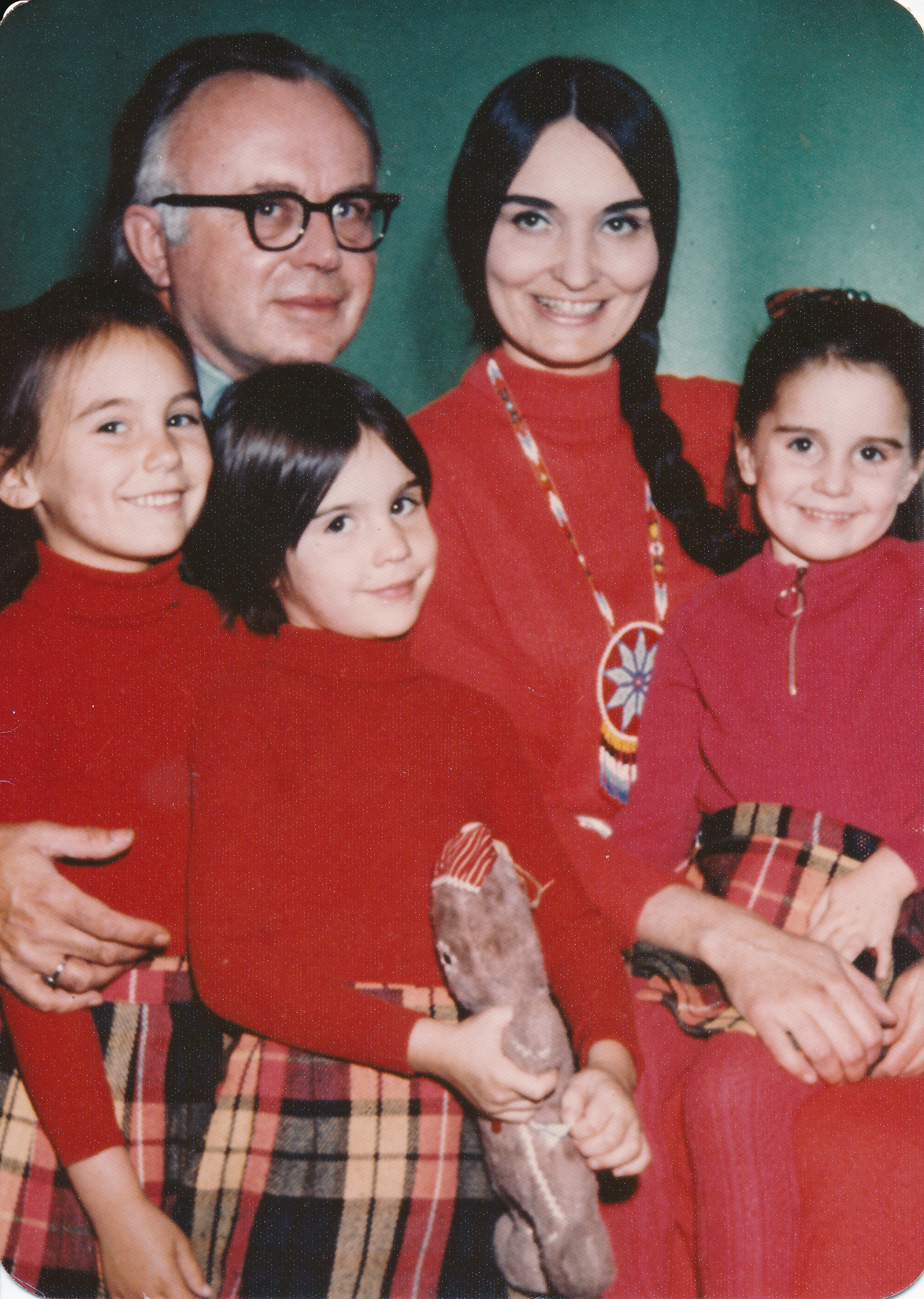 The Kirk family in the early 1970s.