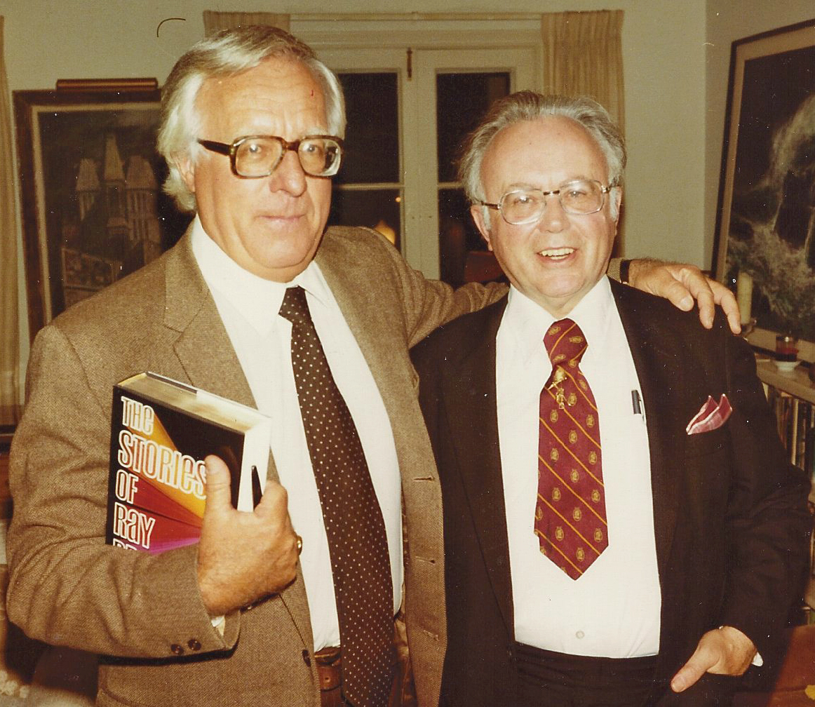 Author Ray Bradbury and Kirk admired each other's fiction.