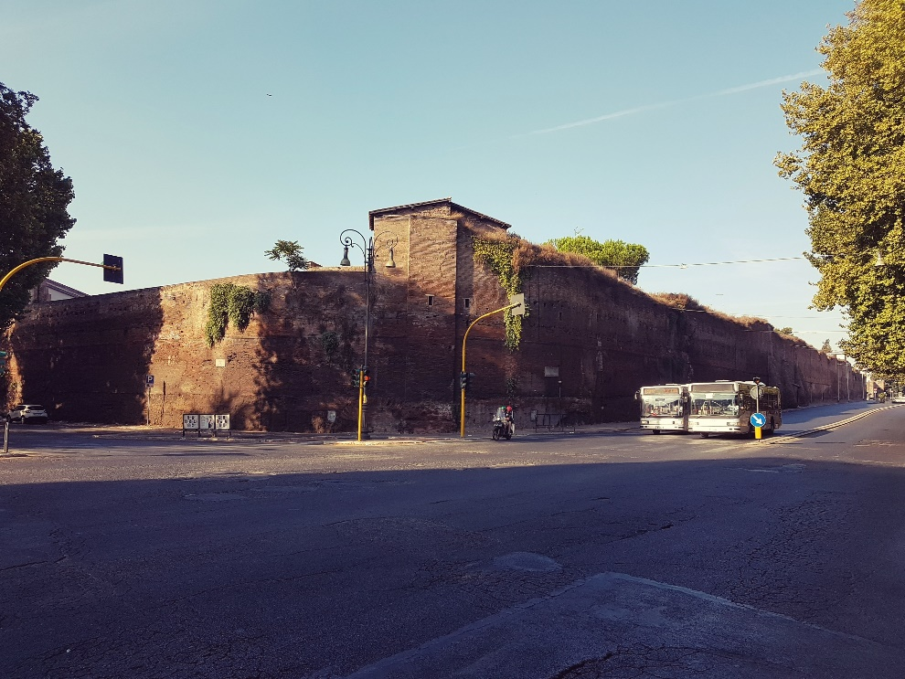 Castro Pretorio corner of the Aurelian Wall, Rome; photo by Eduard Habsburg
